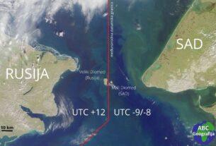 Beringov prolaz - Diomedski otoci i datumska granica