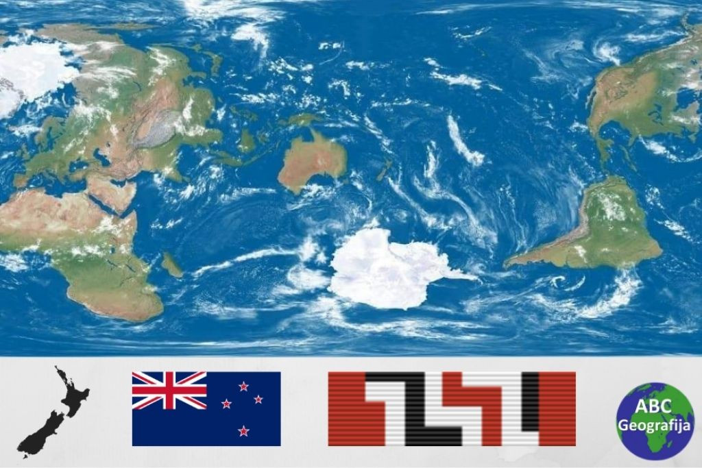 Novi Zeland u sredistu karte svijeta
