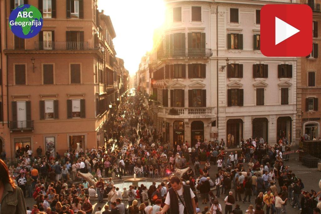 koncentracija stanovnistva, Spanjolske stube u Rimu