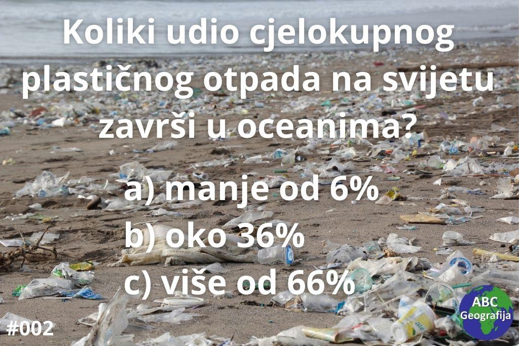 Pitanje - udio plastičnog otpada u oceanima