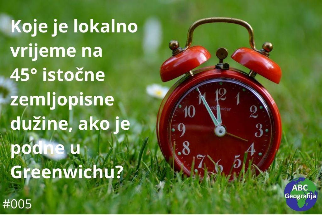 Pitanje o lokalnom vremenu