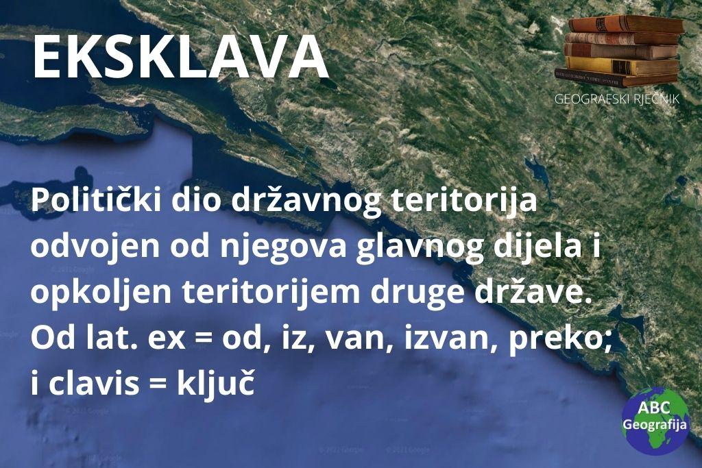 eksklava - dubrovacko-neretvanska zupanija