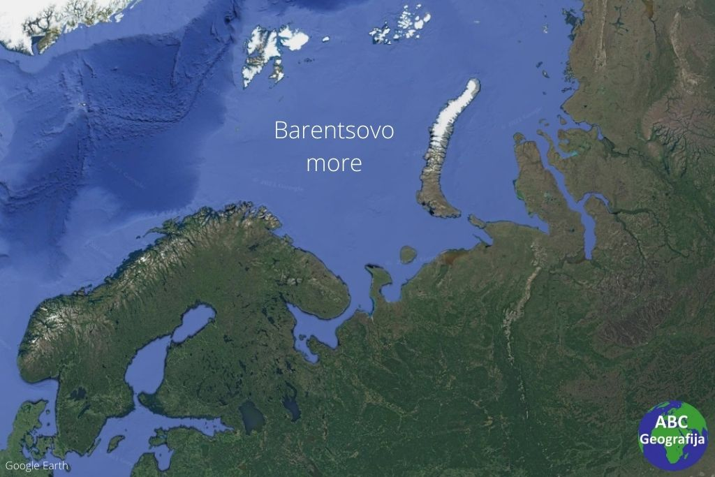 Barentsovo more - karta