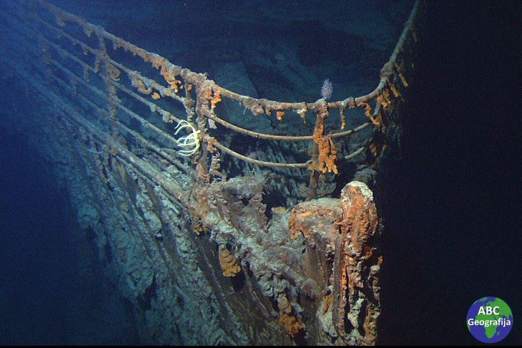 Olupina Titanika na dnu mora