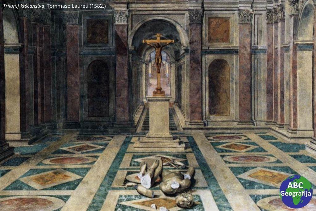 Trijumf kršćanstva, Tommaso Laureti (1582.)