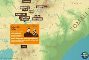 Interaktivna karta putovanja braće Seljan (Etnografski muzej)