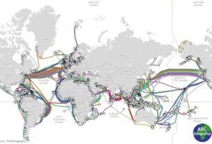 Karta podvodnih kablova svijeta