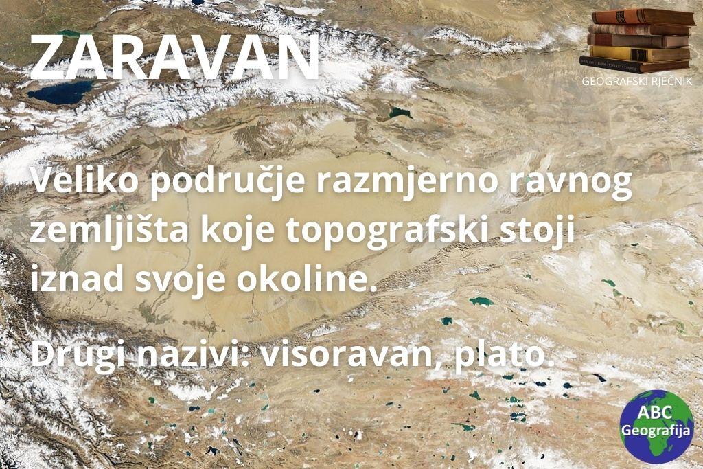 Zaravan - definicija