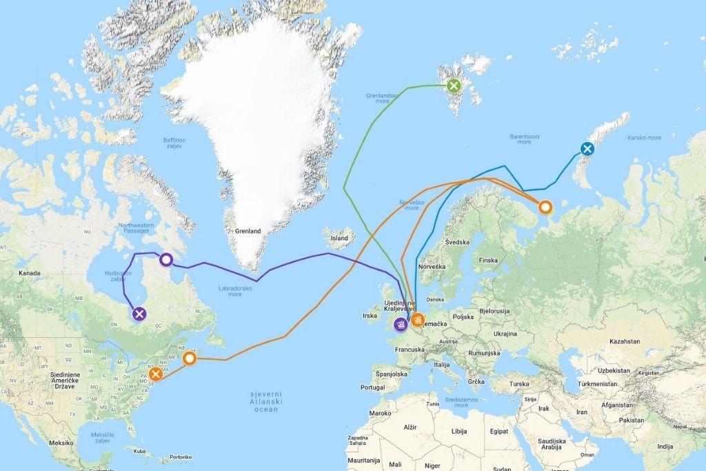 Četiri ekspedicije Henryja Hudsona
