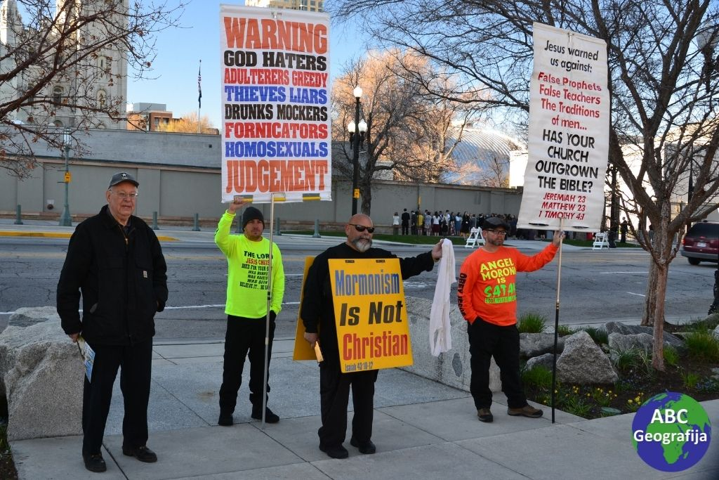 Prosvjednici protiv mormona na ulicama Salt Lake City-ja