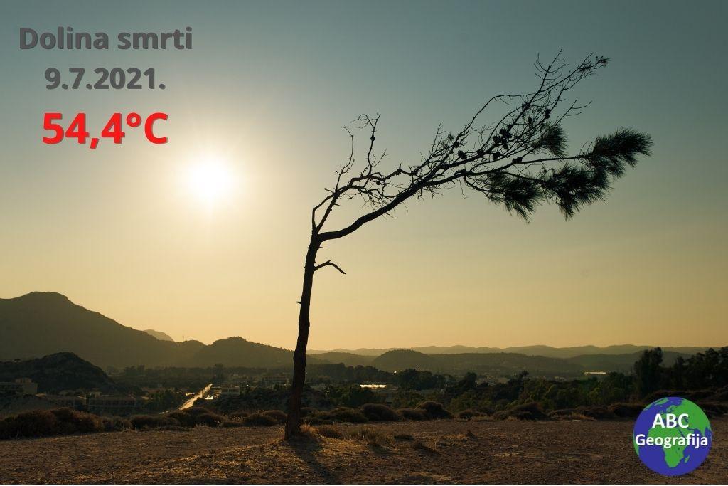 Dolina smrti - temperatura 54,4