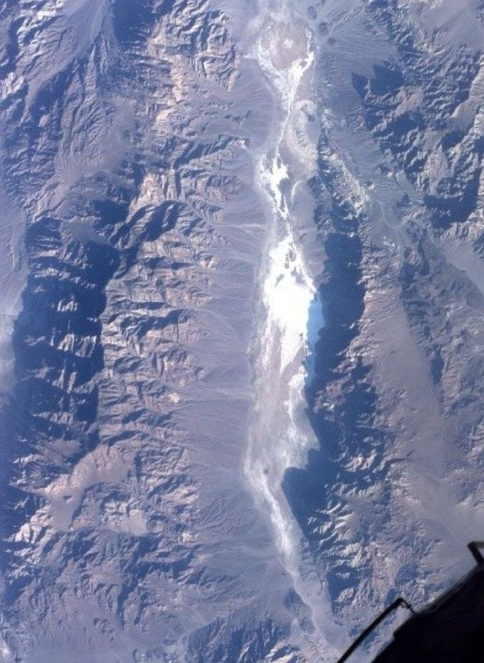 Dolina smrti slikana iz Space Shuttlea Columbia