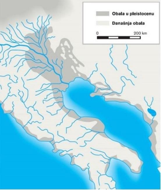 Obala Jadranskog mora u pleistocenu