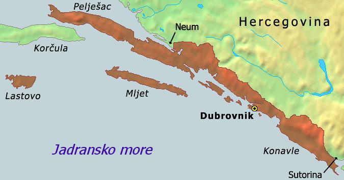 Lokacija Dubrovačke republike 1808. godine