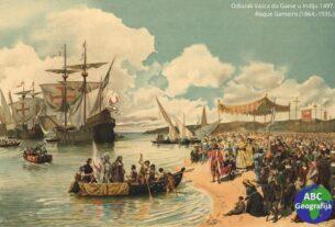 Odlazak Vasca da Game u Indiju 1497, Roque Gameiro, 1864-1935