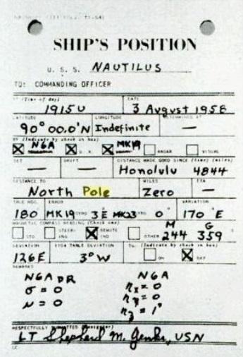 """Brodski dnevnik podmornice """"Nautilis"""": 90°N, 19:15U, 3. kolovoza 1958. godine"""