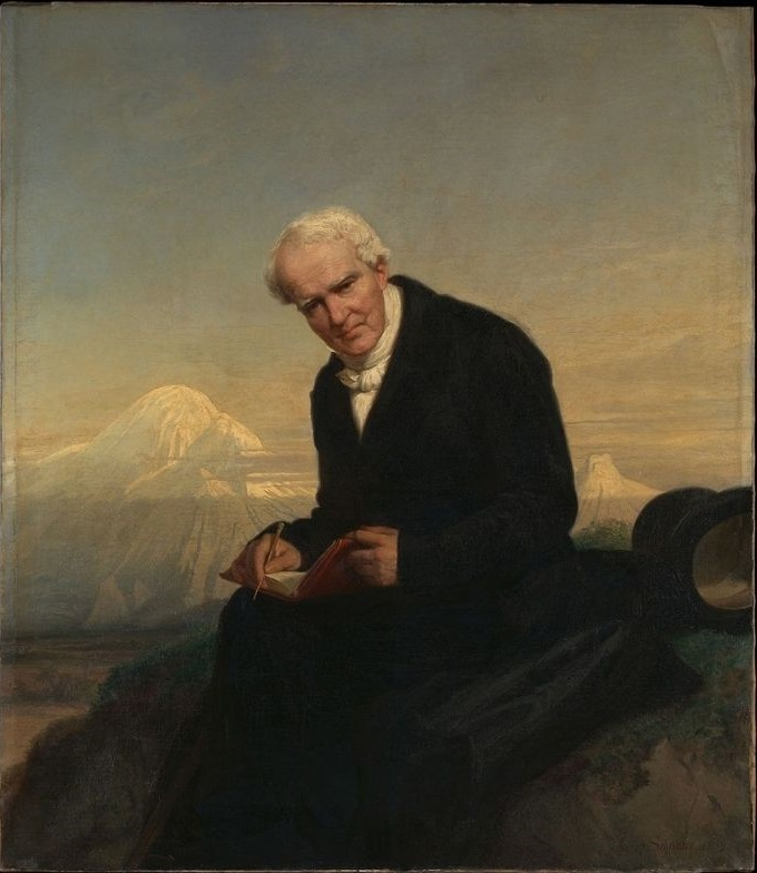 Alexander von Humboldt pod vulkanom Chimboazo, slika Juliusa Schradera