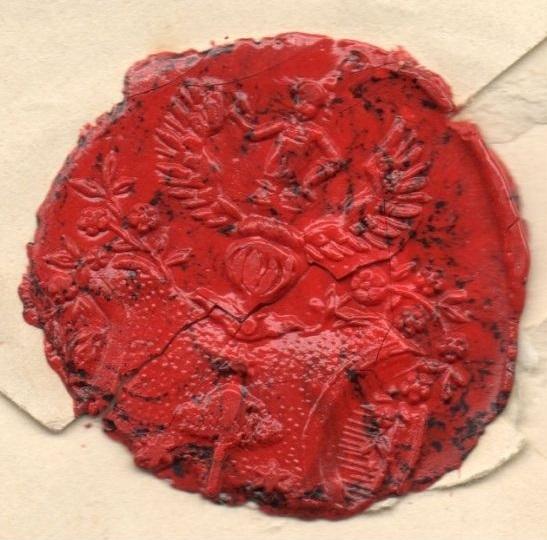 Humboldtov pečat na jednom od pisama koje je slao