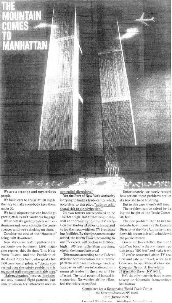 """Planina stiže na Manhattan"" – plaćeni oglas, New York Times, 2.5.1968."