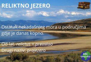 reliktno jezero - definicija
