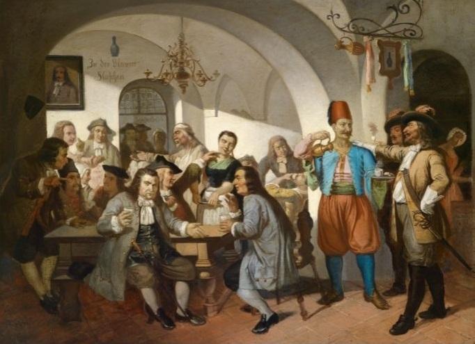 Prva kavana u Beču 1683. godine (nepoznati autor)